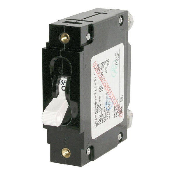 Blue Sea Circuit Breaker C-Series Toggle Switch, Single Pole, 5A, White