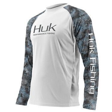 Huk Men's Performance Camo Raglan Vented Long-Sleeve Tee