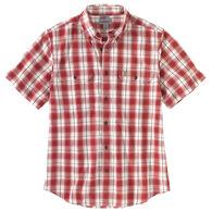 Carhartt Men's Original-Fit Short-Sleeve Plaid Shirt