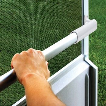 Screen Door Cross Bar - White Handle