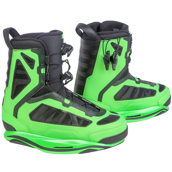 Ronix Parks Wakeboard Bindings, Lime Green