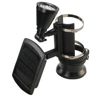 Black Outdoor Solar Powered 4-LED Flagpole Light