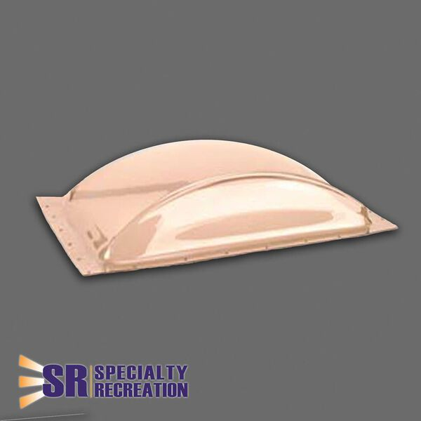 "Low Profile 14"" x 22"" Thermoformed Polycarbonate RV Skylight, Bronze Tint"