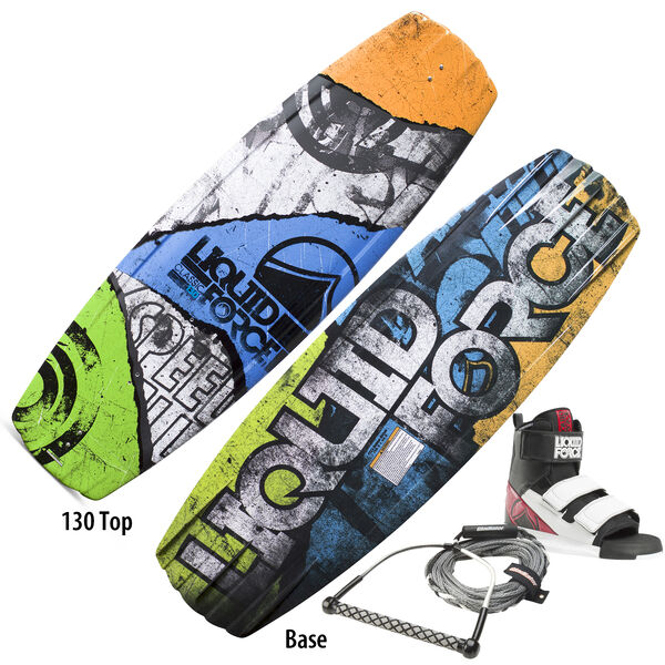 Liquid Force Classic Wakeboard With Domain Bindings And Free Rope