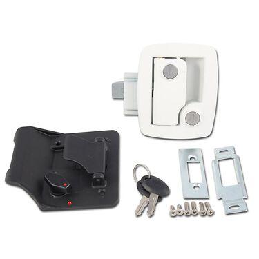 Bauer Travel Trailer Lock with Keys, White