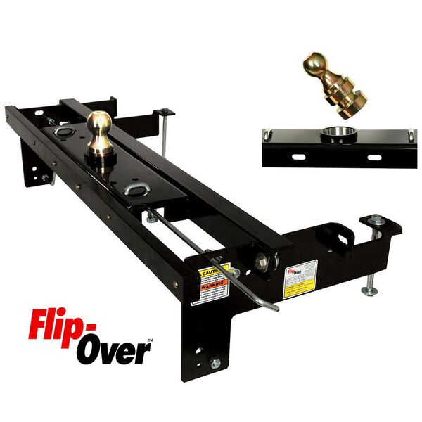 Flip-Over Underbed Gooseneck Hitch, Fits 1999-2006 Chevy/GMC 1/2 Ton, 2001-2010 Chevy-GMC 3/4 Ton, and 2007-2010 Chevy/GMC 1 Ton