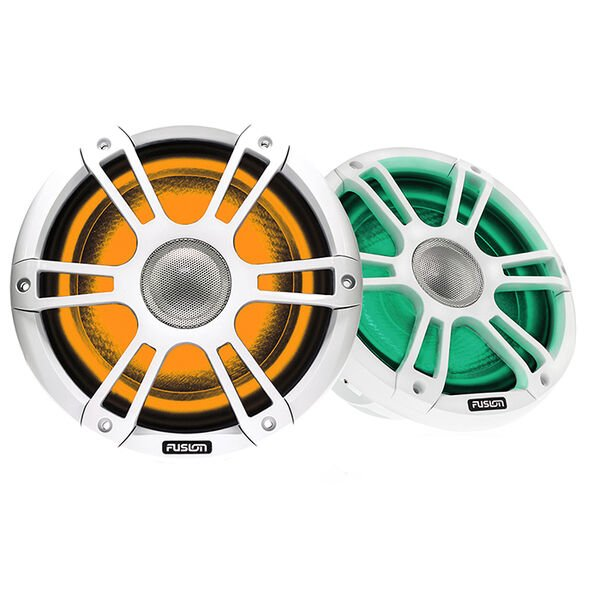 """FUSION Signature Series 3 - 8.8"""" Speakers - White Sports Grille"""