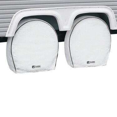 Snow White Overdrive RV Wheel Cover 4-Pack