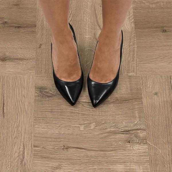 FloorPops Pickling Peel-and-Stick Floor Tiles