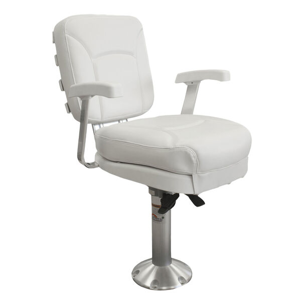 Springfield Ladderback Chair Package With Locking Slide/Swivel, White