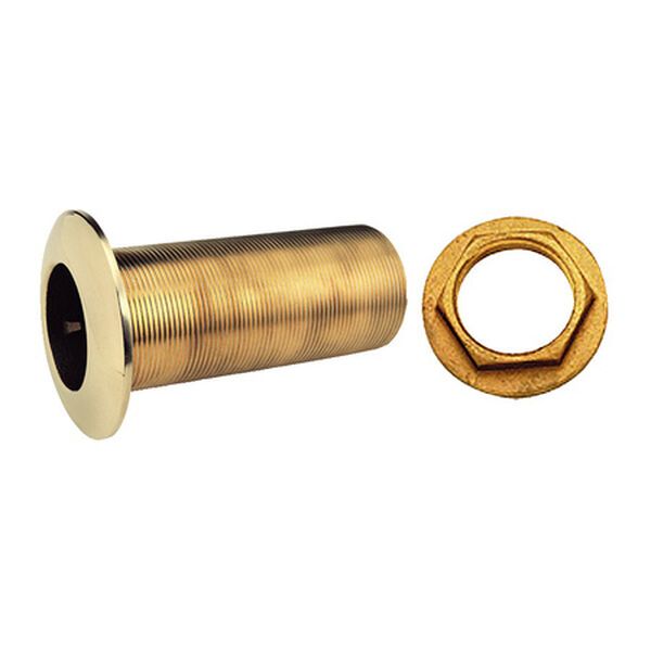 Long Bronze Thru-Hull With Nut, 1-1/4""