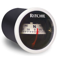 RitchieSport X-21 Dash-Mount Compass, white w/white card