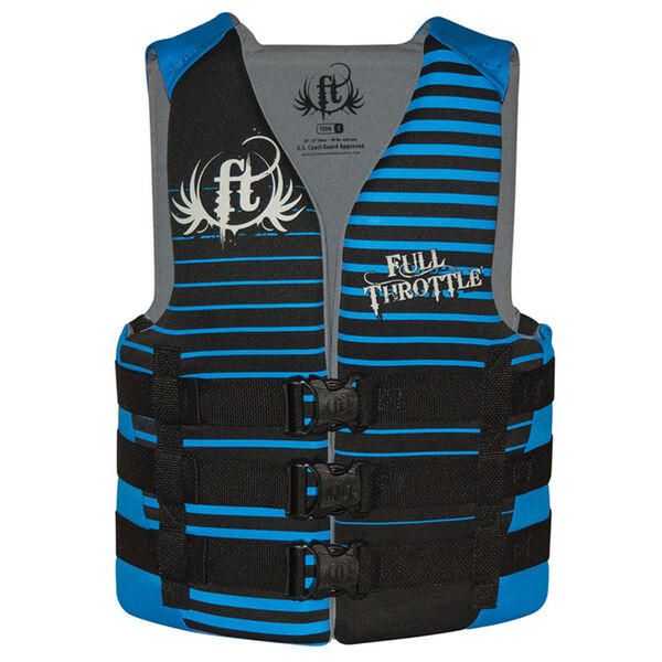 Full Throttle Teen Rapid-Dry Life Vest
