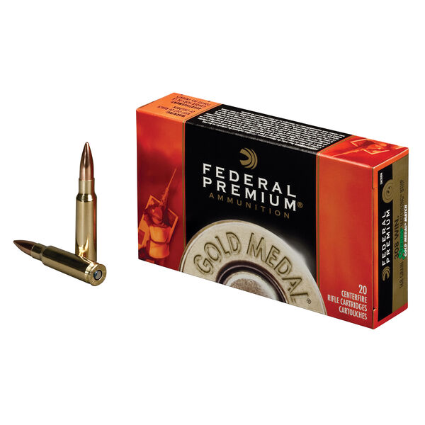 Federal Premium Gold Medal Ammo, .308 Win, 168-gr., SMK-BTHP