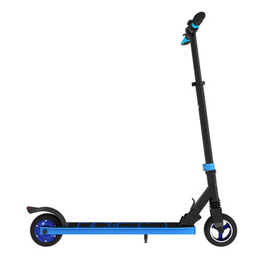 Swagger 8 Foldable Electric Scooter, Black and Blue