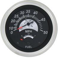 """Sierra Black Sterling 3"""" Speedometer/Fuel Gauge"""