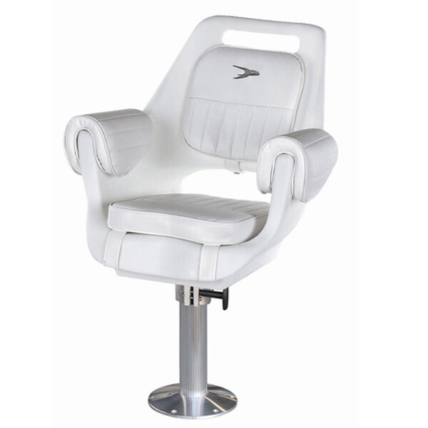 "Wise Deluxe Pilot Chair w/15"" Fixed Pedestal and Seat Swivel"