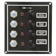 Overton's Waterproof 4-Gang Toggle Switch Panel w/LED Indicators