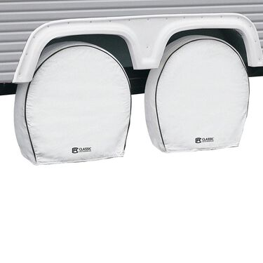 "Snow White Overdrive RV Wheel Cover 4-Pack, 24""-26.5"""