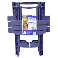 Two-Piece Quik-Fold Table Set, Blue