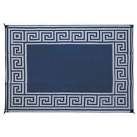 Greek Key Mats, 6' x 9' Navy/Gray