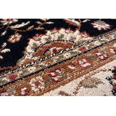 Elegance Collection Rug, 5' x 7', Black