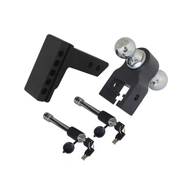 Trailer Valet Blackout Series 10,000 lbs Adjustable Drop Hitch with 2 inch and 2-5/16 inch Ball