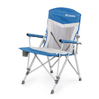 Columbia Hard Arm Chair with Mesh, Blue and Gray