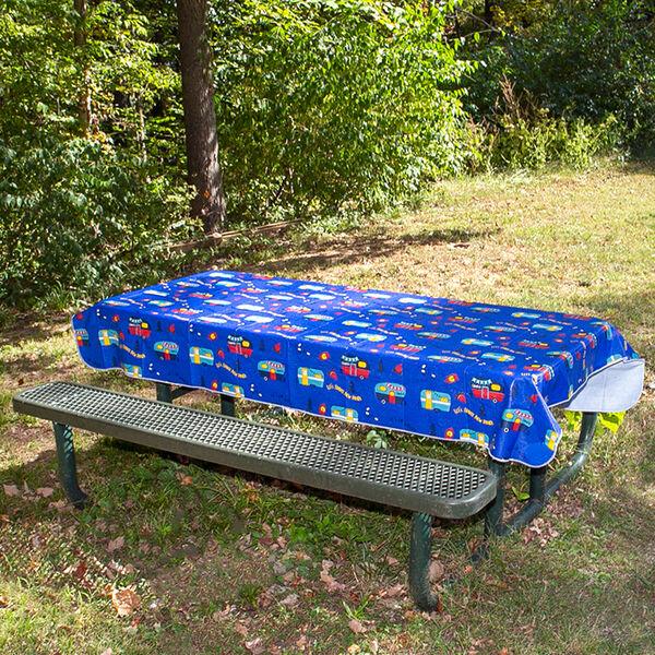 """Camping at Dusk Tablecloth, 82"""" x 54"""""""