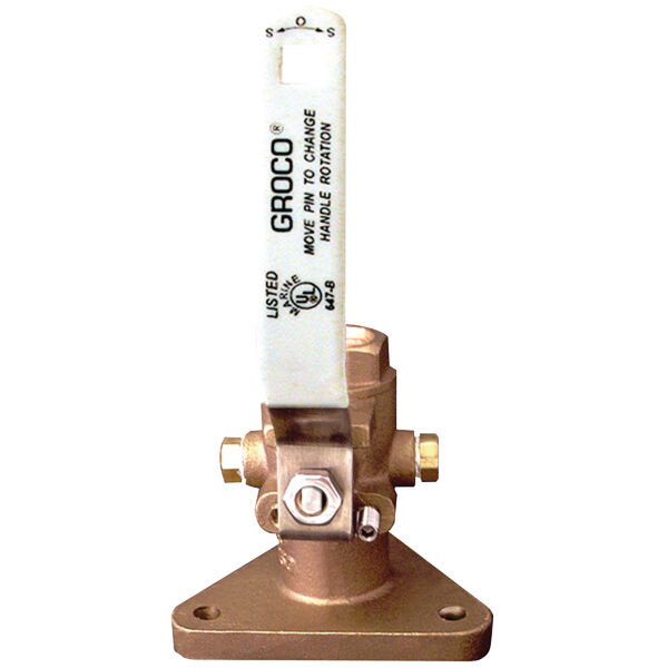 """Groco FBV-1250 Tri-Flange Seacock, 1-1/4"""" Connection"""
