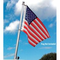 """TaylorMade Deluxe Stainless Steel Flag Pole, 30""""H"""