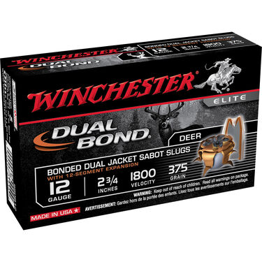 Winchester Supreme Elite Dual Bond, 12ga, 2 3/4in., 375 gr, Sabot, 5ct Slug