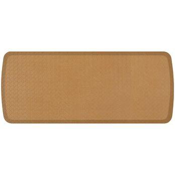 "GelPro Elite Anti-Fatigue Kitchen Comfort Mat, 20"" x 48"" Basketweave Khaki"