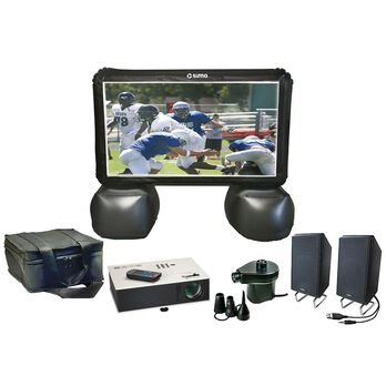 """Sima 72"""" Portable Projection Inflatable Screen Theater Kit"""