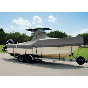 "Taylor Made Cover For Boats With Fixed T-Tops and Bow Rails, 20'4"" x 102"""