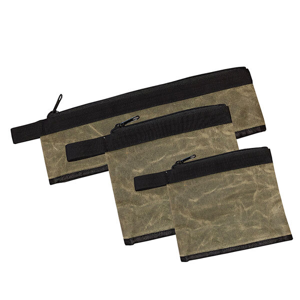 Overland Vehicle Systems Canyon Medium Bags, #12 Waxed Canvas, Set of 3