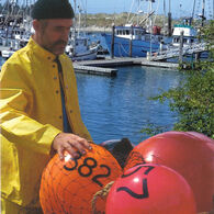 "Commercial Fishing Net Buoy, Yellow (27"" x 33"")"