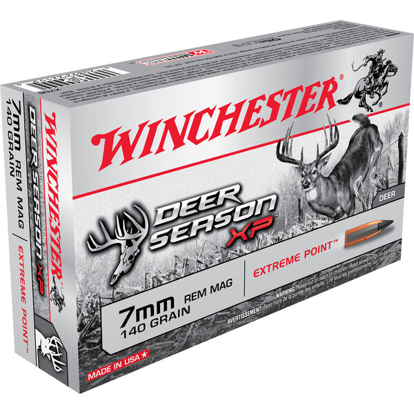 Winchester Deer Season XP Rifle Ammo, 7mm Rem Mag, 140-gr., Extreme Point