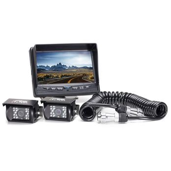 Rear View Camera System - Two Camera Setup with Quick Connect/Disconnect Kit