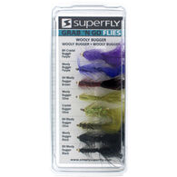 Superfly Grab 'N Go Wooly Bugger Assorted Flies, 8-Pack