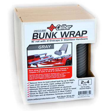 "Caliber Bunk Wrap Kit For 2"" x 4"" x 24' Bunks, Gray"
