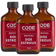 Code Blue Code Red Doe Estrous, 3-Pack of 2-Fl. Oz. Bottles