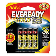 Eveready Gold AAA Alkaline Batteries, 4-pack