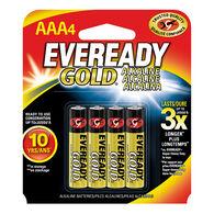 Eveready Gold AAA Alkaline Batteries, 4-pack