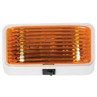12-Volt Universal Porch/Utility Light with Switch – White base with Amber Lens