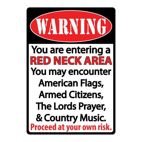 """Rivers Edge Products """"Redneck Zone"""" Tin Sign"""