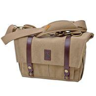 Canvas & Leather Messenger Bag, Tan