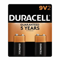 Duracell CopperTop Alkaline 9V Batteries, 2-Pack