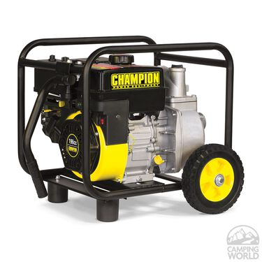 "Champion 2"" Semi-Trash Water Transfer Pump with Hose and Wheel Kit"