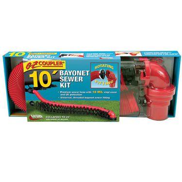 EZ Coupler Bayonet Sewer Hose Kit - 20'